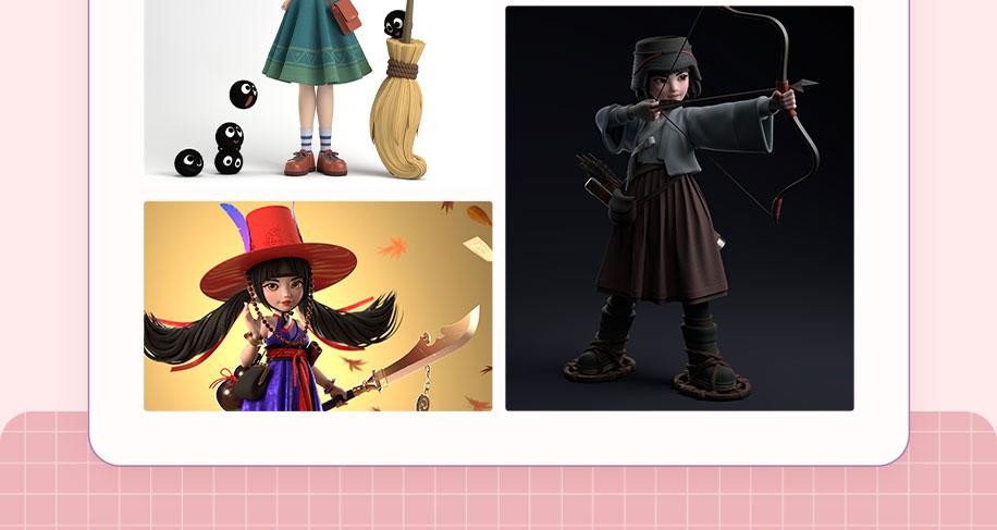 Maya의 캐릭터 모델링 과정
