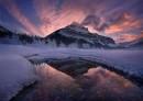 冬季的倒影   当时零下20摄氏度