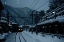 雪中的站台