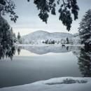 冬季的早晨,摄于斯洛文尼亚