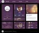 音乐APP紫色界面