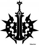 战士黑白图标矢量素材