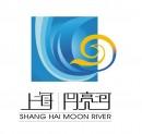 弯月河流元素logo