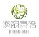 抽象绿色桥梁元素logo