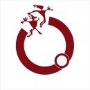 朱红圆环人物元素logo