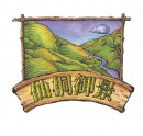 油画风山丘房产logo