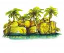 阳光椰林元素logo