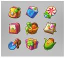 彩色立体游戏图标