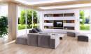 客厅电视机与沙发家具