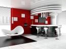 时尚创意造型沙发与吧台