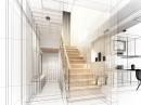 黑白线条室内装潢设计