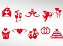 浪漫红色情人节图标
