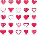 立体感爱心元素图标