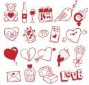 简约情人节图标