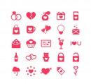 粉色爱心元素图标
