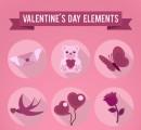 粉色精致情人节图标