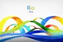 2016里约奥运水彩丝带背景图