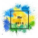 2016里约奥运水彩喷溅背景图