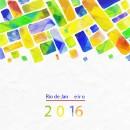2016里约奥运水彩图块状背景图