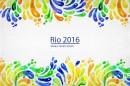2016里约奥运水彩抽象背景图2