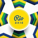 2016里约奥运几何抽象背景图