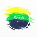 2016里约奥运笔刷矢量图