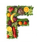 绿色水果英文字母F