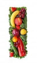 绿色水果英文字母I
