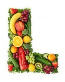 绿色水果英文字母L
