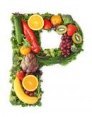 绿色水果英文字母P
