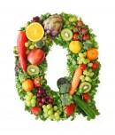 绿色水果英文字母Q