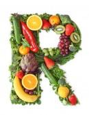 绿色水果英文字母R