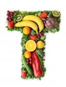 绿色水果英文字母T