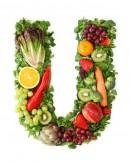 绿色水果英文字母U