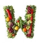 绿色水果英文字母W