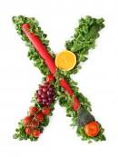 绿色水果英文字母X