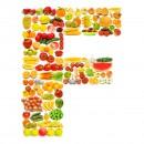 黄色水果英文字母F