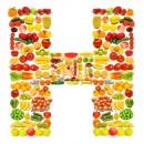 黄色水果英文字母H