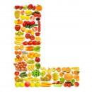 黄色水果英文字母L