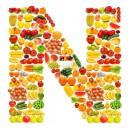 黄色水果英文字母N