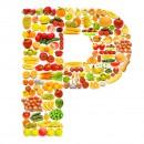 黄色水果英文字母P