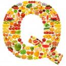 黄色水果英文字母Q