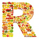 黄色水果英文字母R