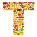 黄色水果英文字母T