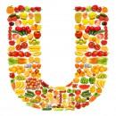 黄色水果英文字母U