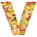 黄色水果英文字母V
