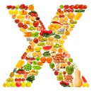 黄色水果英文字母X