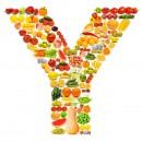 黄色水果英文字母Y