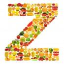 黄色水果英文字母Z