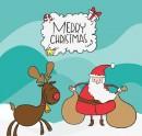 圣诞卡通背景图